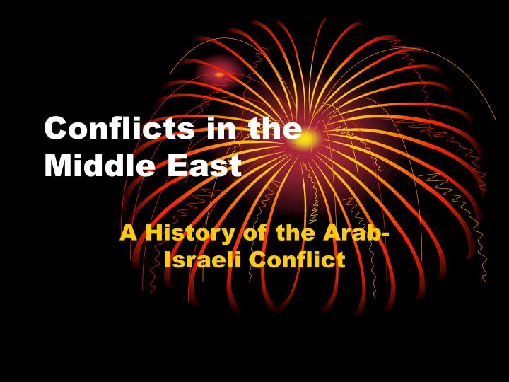 conflicts in the middle east n.