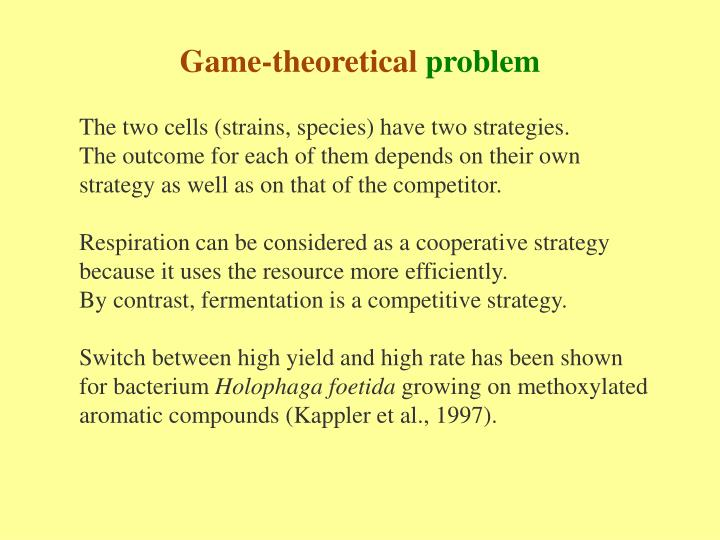 Game-theoretical