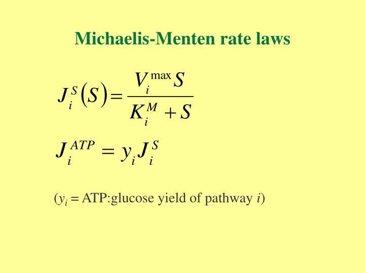 Michaelis-Menten rate laws