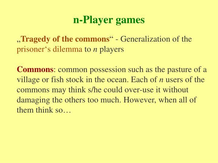 n-Player games