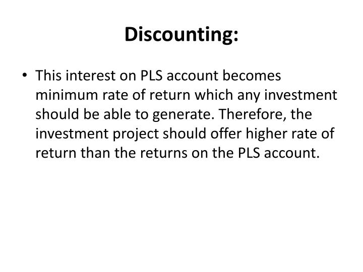 Discounting:
