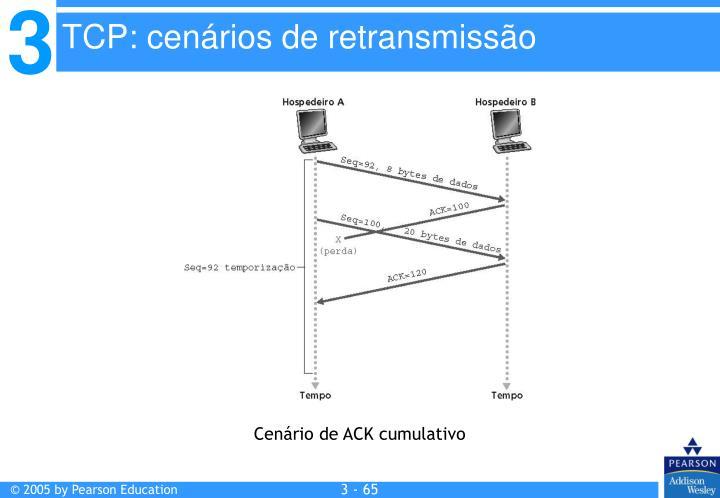 TCP: cenários de retransmissão