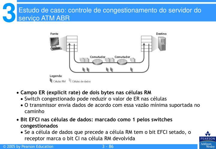 Campo ER (explicit rate) de dois bytes nas células RM