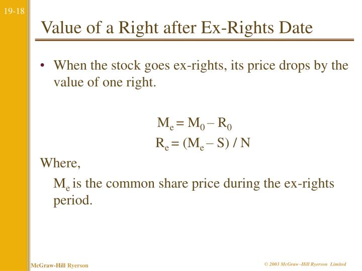 ex rights date