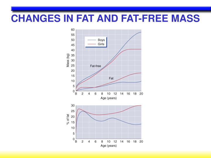 CHANGES IN FAT AND FAT-FREE MASS