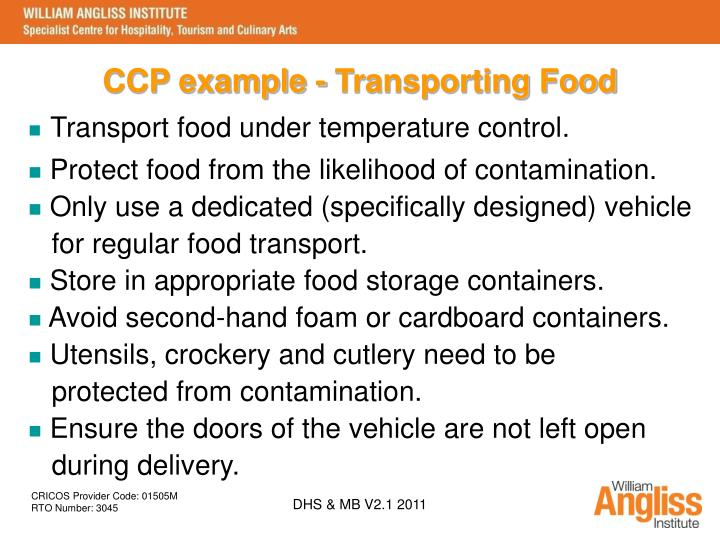 Sitxfsa Transport And Store Food