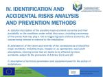 iv identification and accidental risks analysis and prevention methods