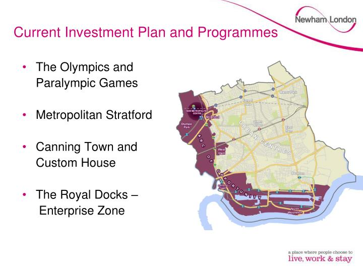 Current Investment Plan and Programmes