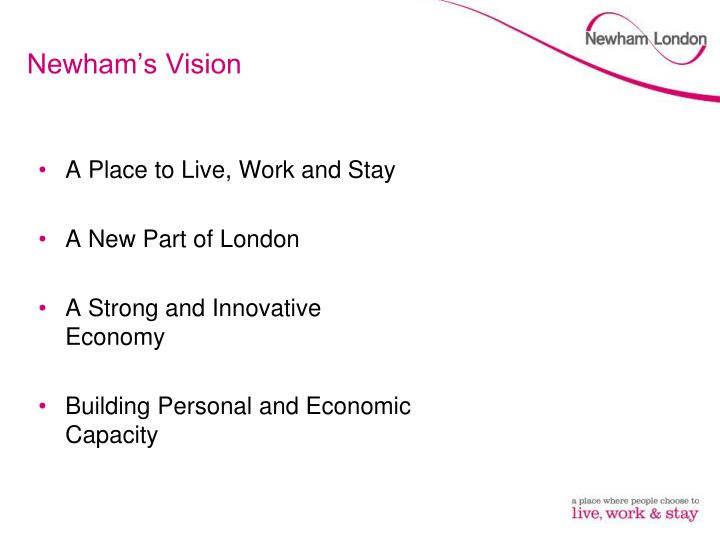 Newham s vision