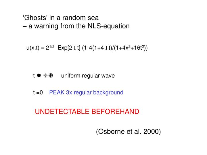 'Ghosts' in a random sea