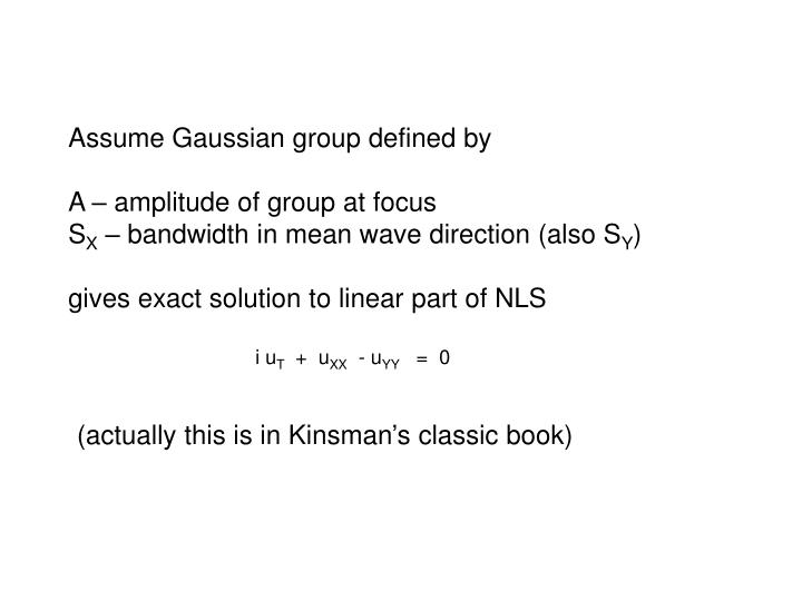 Assume Gaussian group defined by