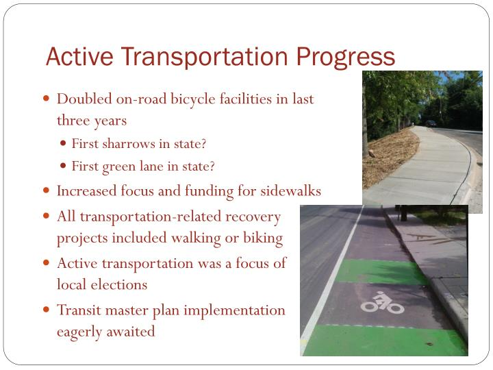 Active transportation progress