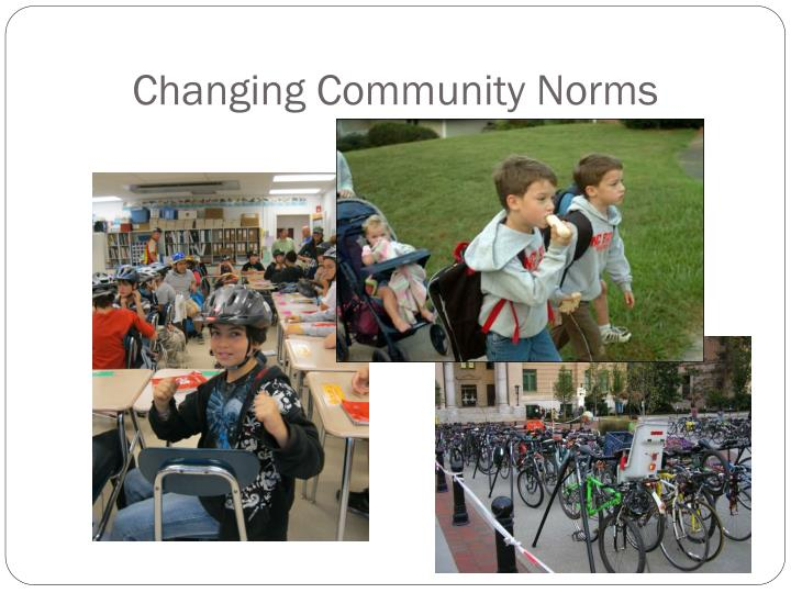 Changing Community Norms