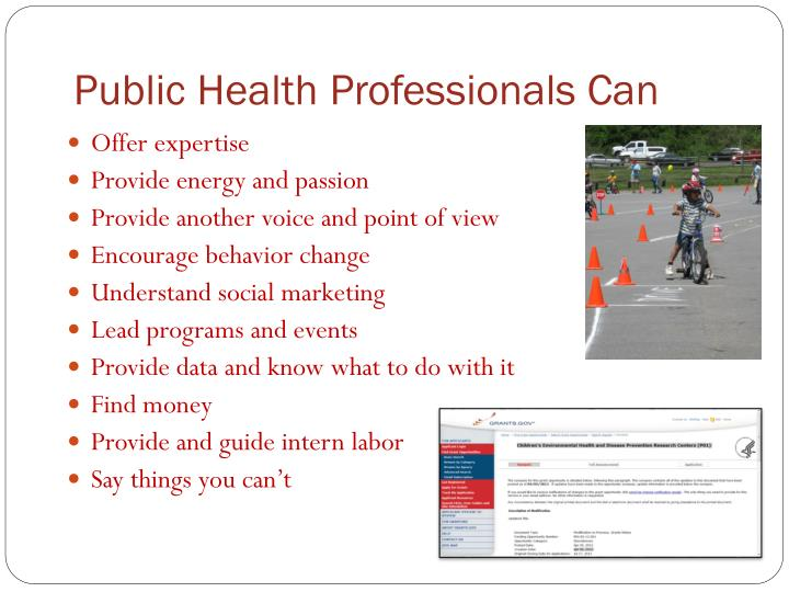 Public Health Professionals Can