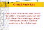 overall audit risk