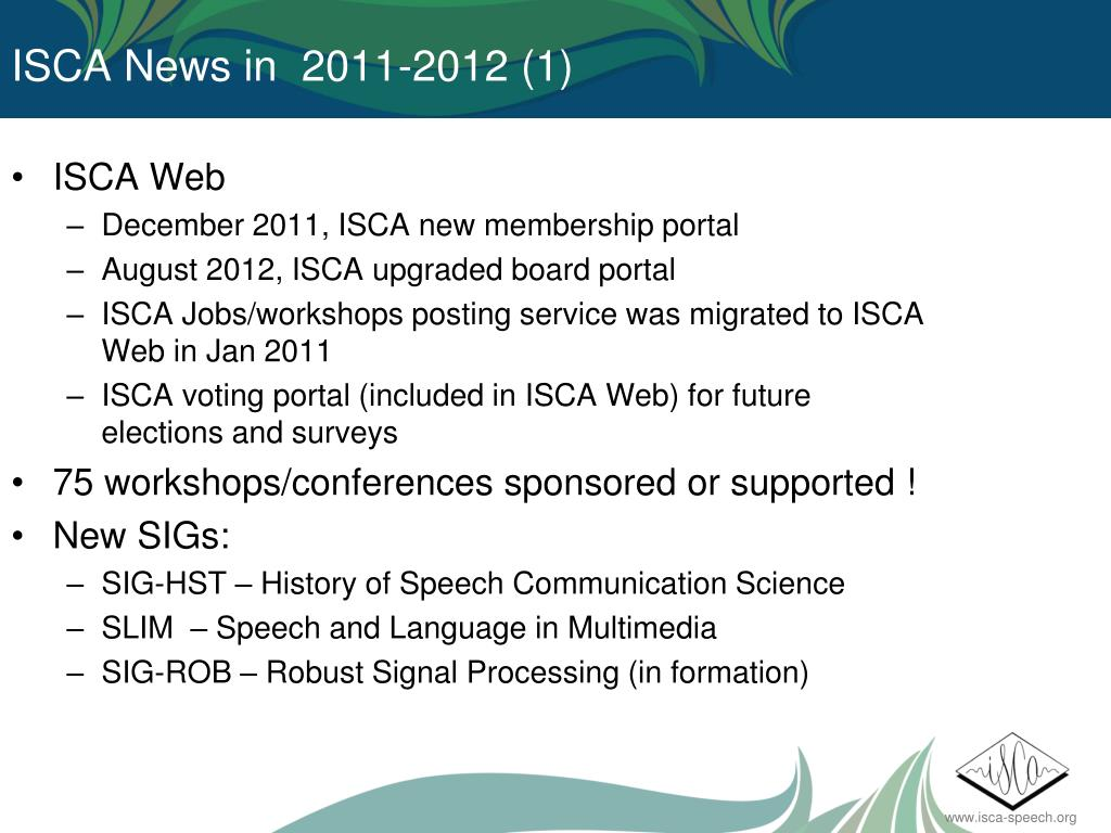 PPT - ISCA GENERAL ASSEMBLY PowerPoint Presentation - ID:7079298