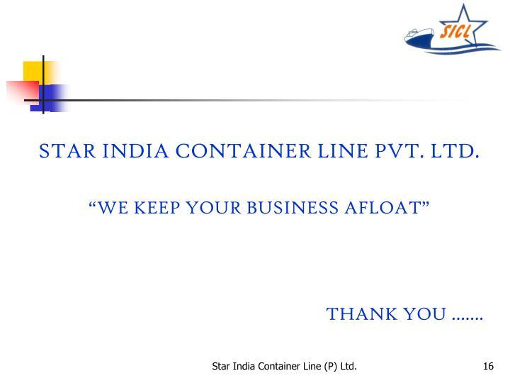 STAR INDIA CONTAINER LINE PVT. LTD.