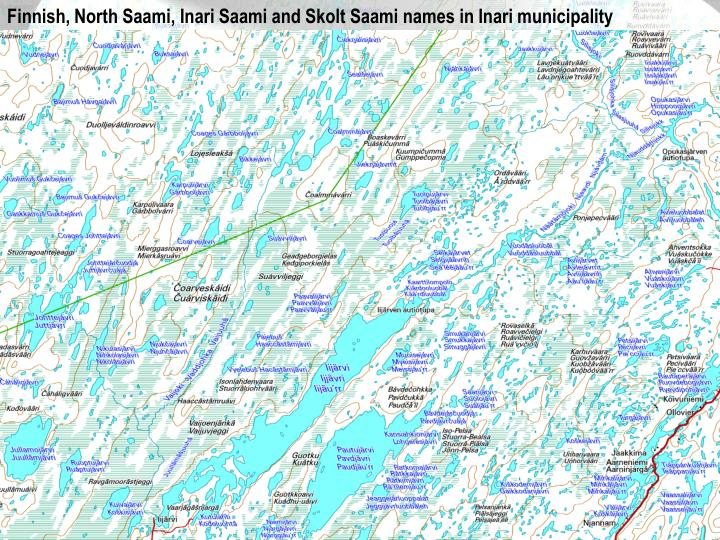 Finnish, North Saami, Inari Saami and Skolt Saami names in Inari municipality