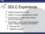 sdlc experience1
