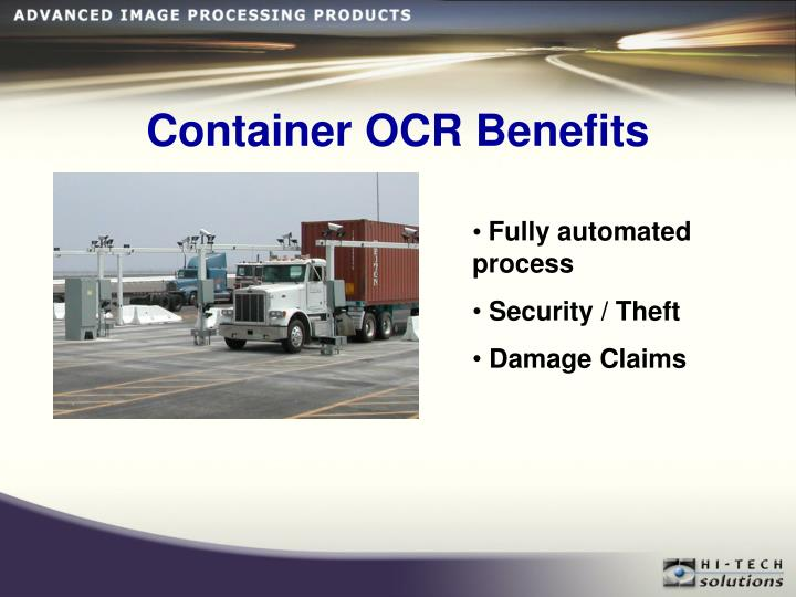 Container OCR Benefits