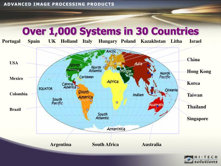 Over 1,000 Systems in 30 Countries