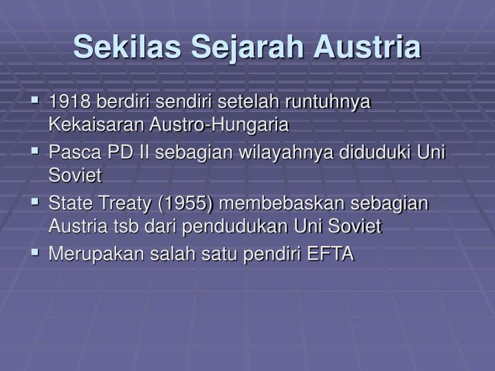 Sekilas sejarah austria