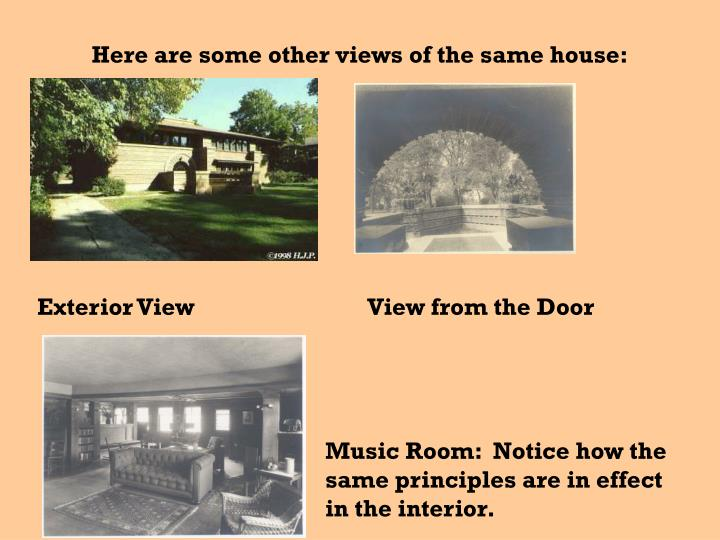 Here are some other views of the same house: