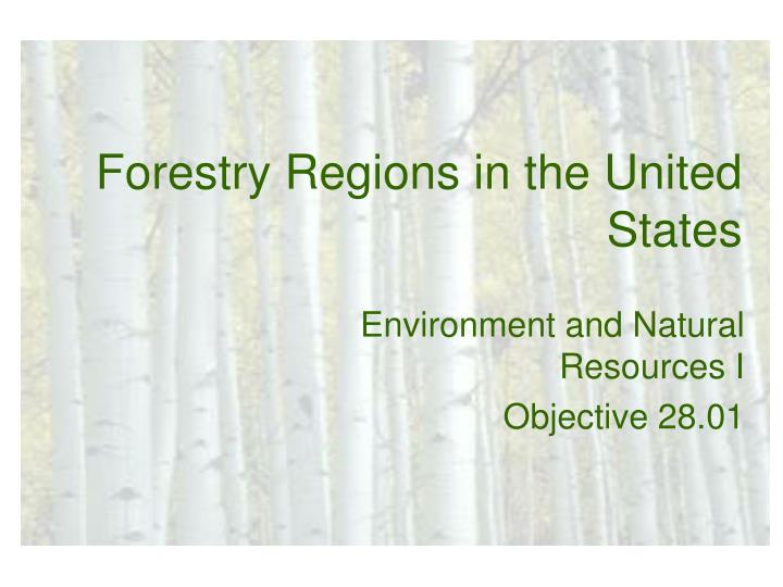 forestry regions in the united states