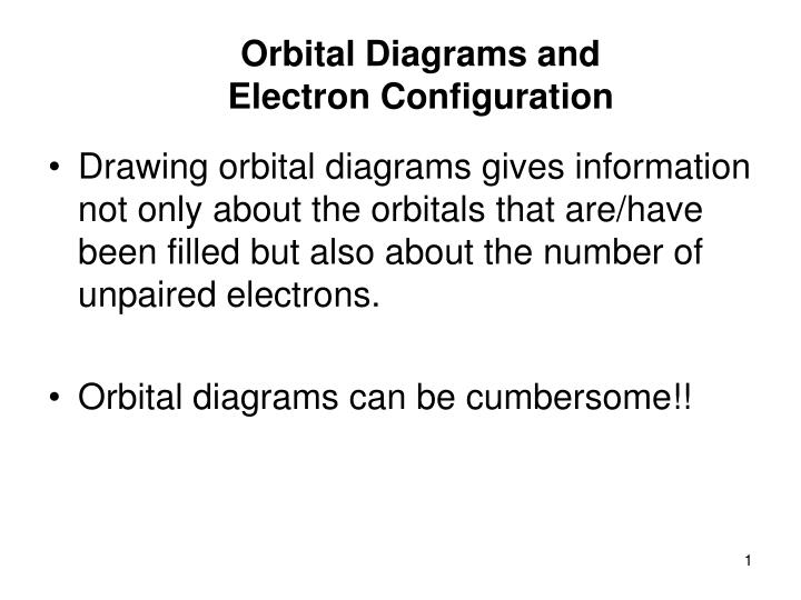 Ppt orbital diagrams and electron configuration powerpoint orbital diagrams and electron configuration ccuart Gallery