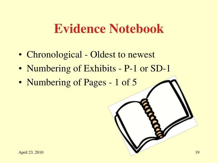 Evidence Notebook