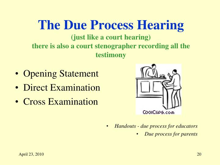 The Due Process Hearing