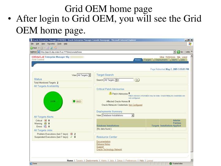Grid OEM home page