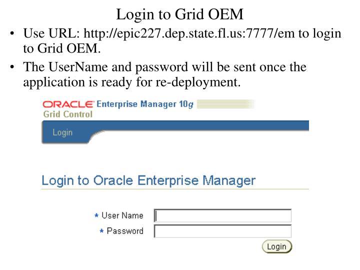 Login to Grid OEM