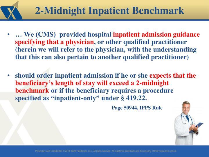 … We (CMS)  provided hospital