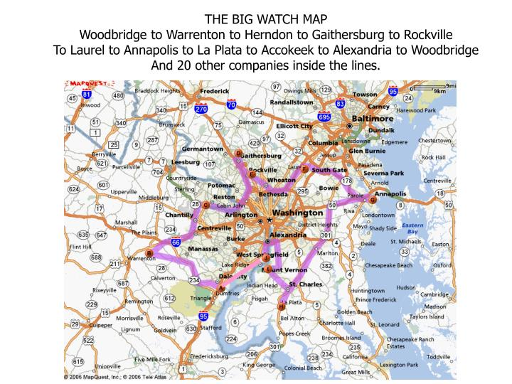THE BIG WATCH MAP