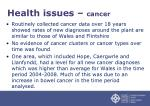 health issues cancer