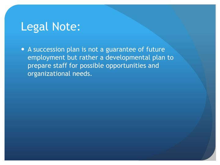 Legal Note: