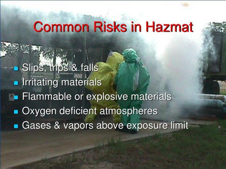 Common Risks in Hazmat