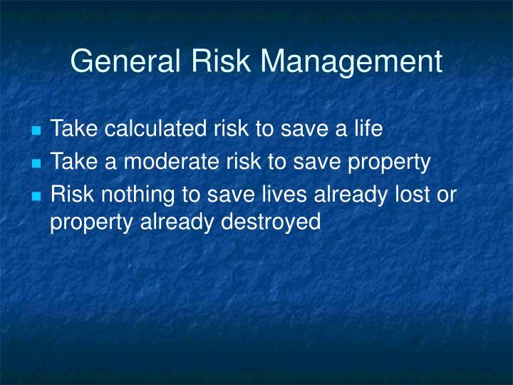 General Risk Management