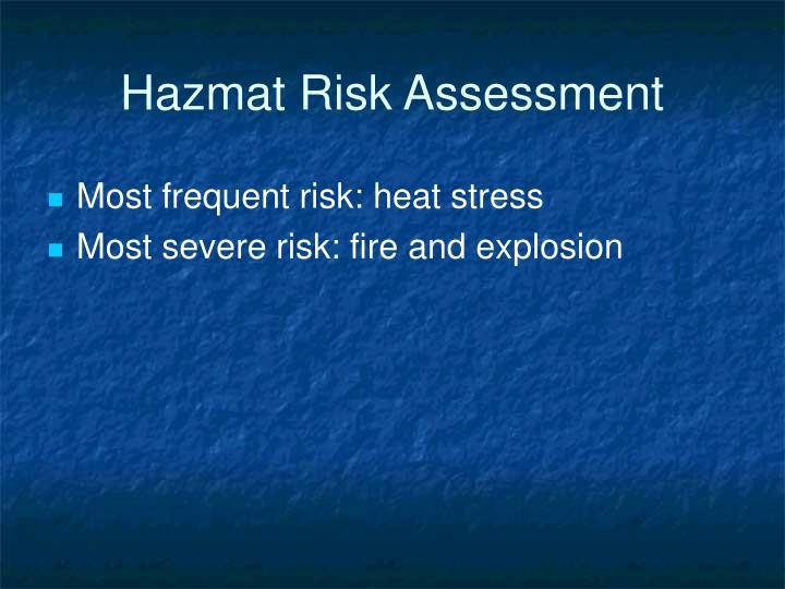 Hazmat Risk Assessment