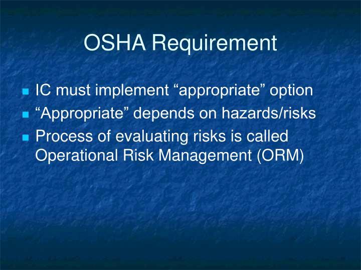 OSHA Requirement