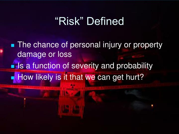 """""""Risk"""" Defined"""