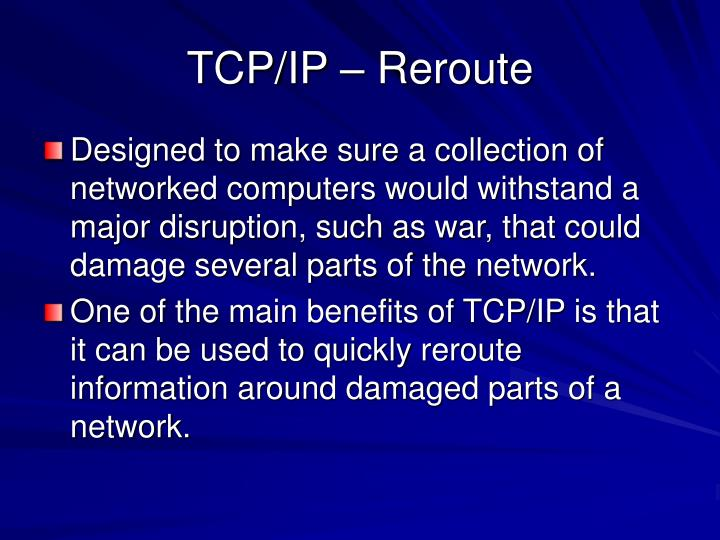 TCP/IP – Reroute
