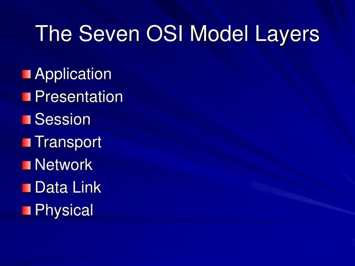 The Seven OSI Model Layers