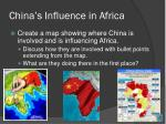 china s influence in africa