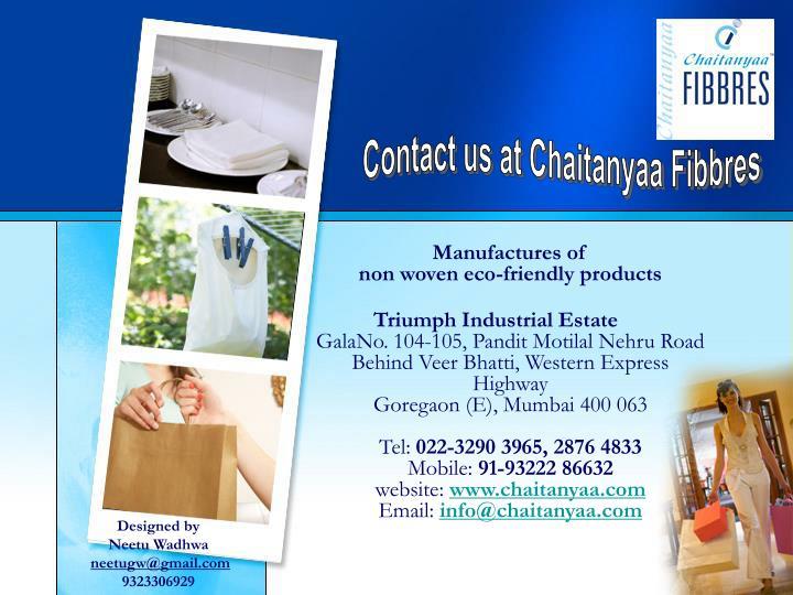 Contact us at Chaitanyaa Fibbres