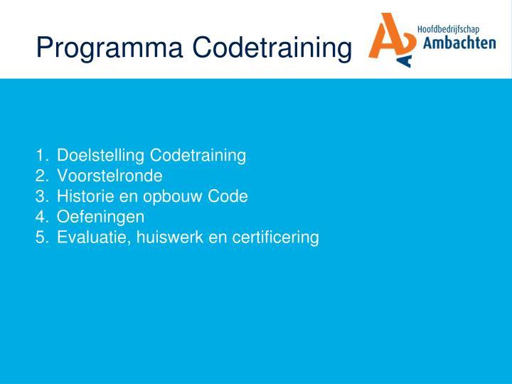Programma codetraining