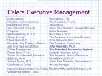 celera executive management