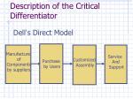 description of the critical differentiator3