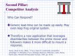 second pillar competitor analysis
